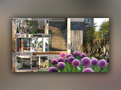 3d Modeling & Animation for Frontyard Garden Design animation rendering modeling house design architecture