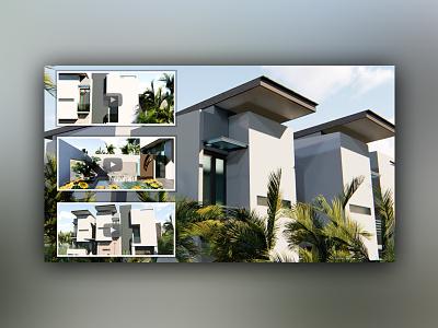 3d Modeling & Animation for Modern Home Design animation rendering modeling home design architecture