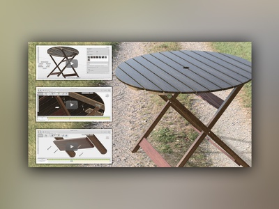 3d Modeling & Animation for Folding Table Assembly animation rendering modeling product design assembly