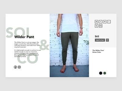 Sol&Co - Product Page portfolio web design web design