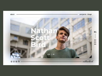 Personal Landing Page portfolio personal branding web design