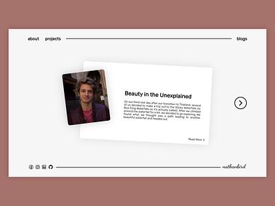 Blog Platform portfolio design web design personal blog