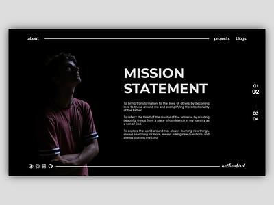 Personal Website - Mission Statement portfolio web design web personal branding personal design