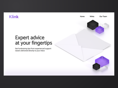 Klink Winks email mail blender newsletter fundraising web design web