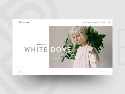 Brandlove clothing clothes golden ratio fullscreen homepage interface ecommerce white elegant minimal fashion clean web ui design