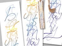 Hand-Lettered Alphabet Bookmark