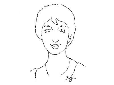 Jane Austen illustration pen and ink