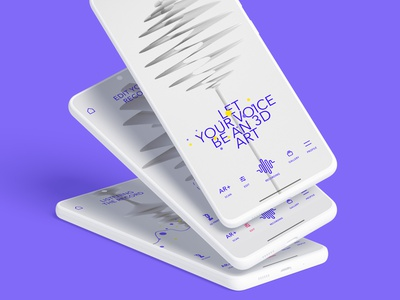 Voice Rec product design ux design application app ui 3d ios app iphone ux design ui design recording app 3d print android mobile augmented reality