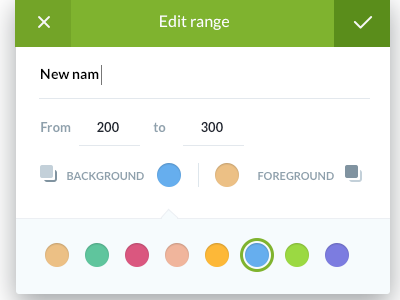 Edit range edit ui ux interaction