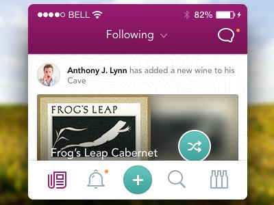 iOS App - Proposal #2 wine adobe garmond pro serif texture clean user experience interface visual design interaction ux ui ios