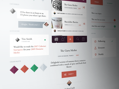 Style Tile stye tile ui ux interaction style guide ios
