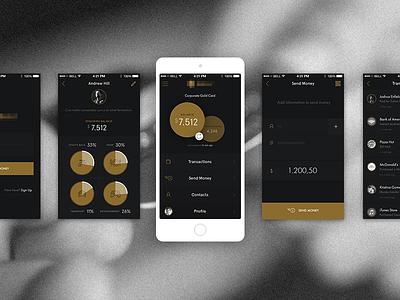 Bitcoin App bitcoin visual design ux ui black money