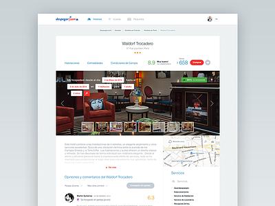 Despegar.com — Hotel view despegar redesign ui ux simple clean