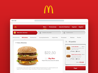 McDonald's Online Ordering mcdonalds ui ux interaction gradients skeumorphism