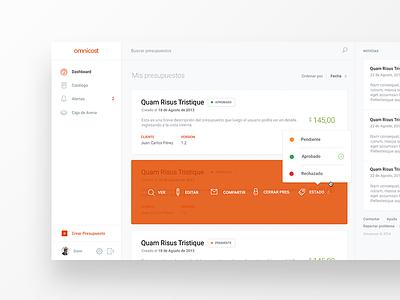 Dashboard dashboard visual design interaction clean simple flat