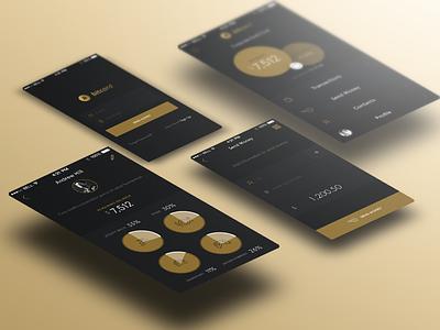 Bitcoins App ui ux interface interaction