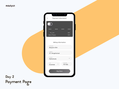 #DailyUI Challenge#2 Payment Page payment credit card payment page design dailyui creditcard pagement