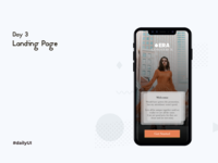 #dailyUI Challenge#3 Landing Page