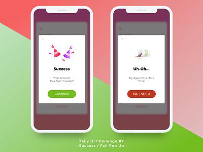 #dailyUI Challenge#11 Flash Message ui app concept app design dailyui fail success message