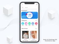 #dailyUI Challenge#12 Ecommerce App