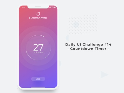 Daily UI Challenge Day 14 - Countdown Timer dailyui 003 app apps application app animation app branding app concept gradient clock stop start time count count the day dailyui app timer countdowntimer countdown