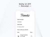 Ben Shih Daily UI Challenge Day 17 - Receipt