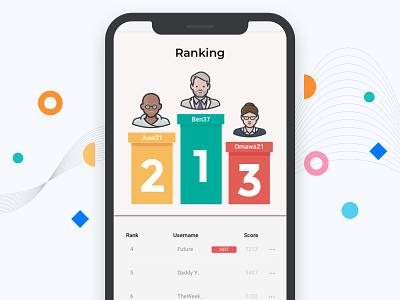 Day 19 - Leaderboard instagram app logo ui daily design app designer app design app concept app branding dailyui stage winner leader rank ranks app game ranking leaderboard day 19