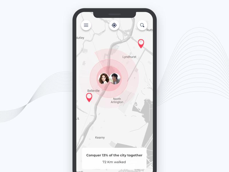 Day20 Map Tracker app design design dailyui app concept location couple gps iphone app mac app tracker map