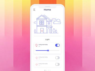 DailyUI 21 * Home Monitoring Dashboard controller light monitoring daily ui design smart home home app monitor home app design app concept app dailyui