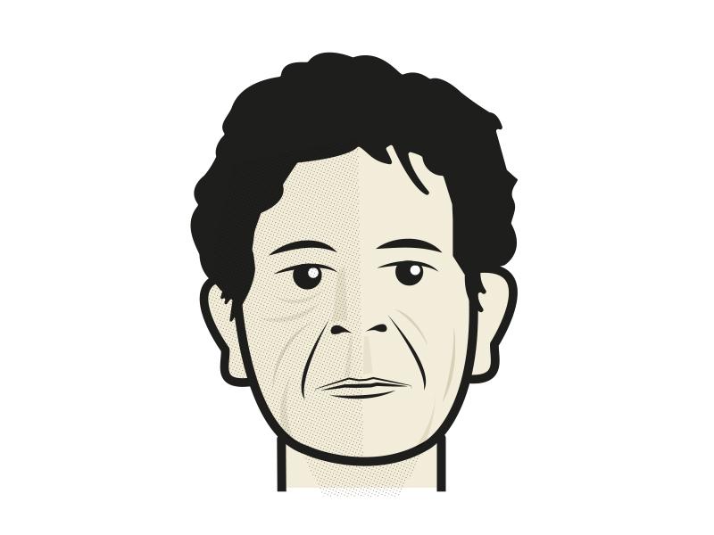 Lou Reed thefacesofdeadrockstars illustration loureed