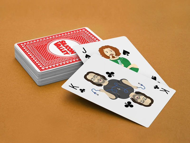 Silicon Valley Playing Cards  illustration erlich gilfoyle silicon valley