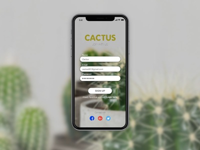 Cactus Sign Up