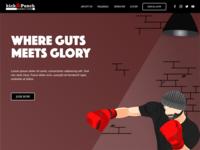 Kick&Punch Boxing Club Landing page