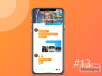 Direct Messaging (chat Screen) Ui concept