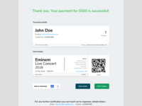 Email Receipt UI design