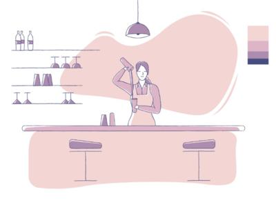Profession series - bartender