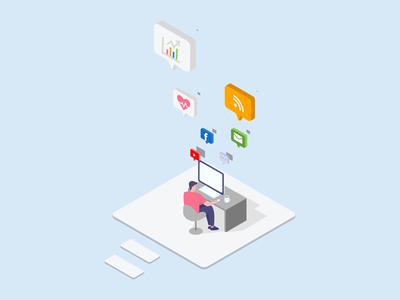 Workspace isometric illustration
