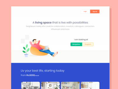 Co-Living web app design website web marketing uxdesign uiux ui webdesign co-living coliving webapp