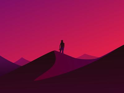 The Soul Hunt digital illustration digital painting mountain middle east desert sand vectorart drawing art direction concept affinitydesigner artwork illustration art