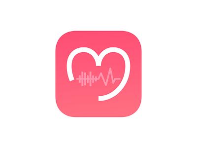 Musicmotiv - iOS app icon V2 india jogging heart run sound wave fitness music ios icon app icon musicmotiv rebound