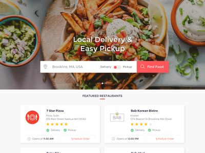 FoodSquire Web Redesign responsive web food delivery home page visual design ux designer foodsquire web design web app food delivery application food delivery food ux web