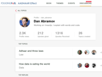 User Profile - Social