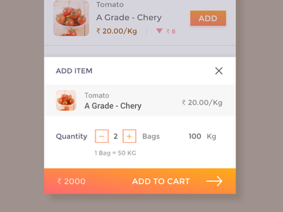 Add Item to cart groceries online shopping ecommerce shopping cart