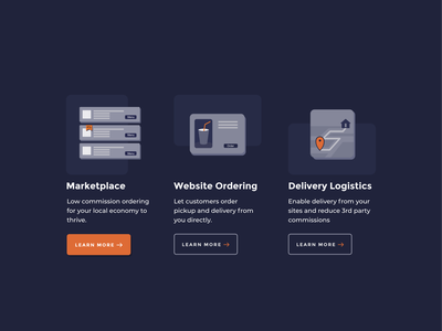 Icon design for marketing web site affinity designer illsutration apps icon iconography design ux ui marketplace ordering food logistics delivery