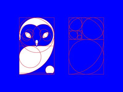 Owl Logo Construction Lines