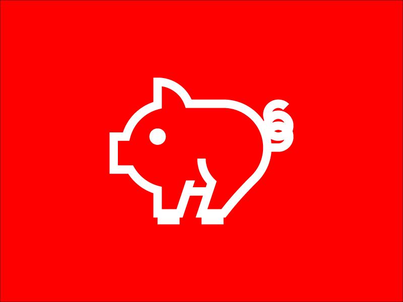 Pig Icon Grid animal pig pamata tarradell martinez pablo branding icon logo