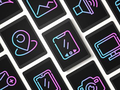 user interface mobile application app icon work ux branding ui vector illustration design office