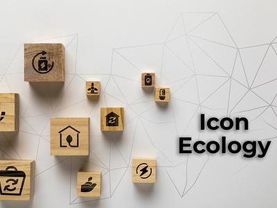 ecology branding ui design illustration factory electronic nature glyph icon ecology