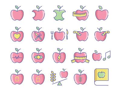 Apple heart love book fruit apple