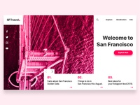 SFTravel | Travel Landing Page Transition